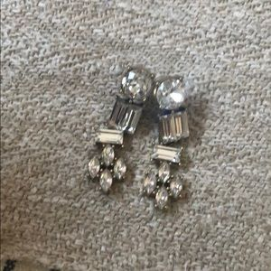 Jcrew diamond chandelier earrings